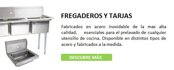 Fregaderos-Tarjas, ACERO INOXIDABLE