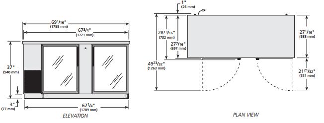Medidas de refrigerador doble puerta - Dimensiones de una nevera ...