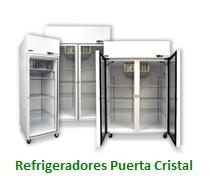 Refrigeradores Puerta Cristal