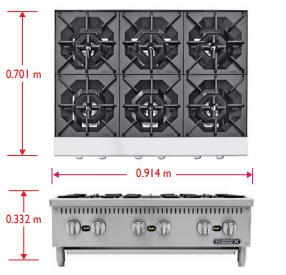 Sobrinox Hot Plate 6 Medidas