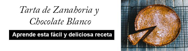 TARTA DE ZANAHORIA Y CHOCOLATE BLANCO