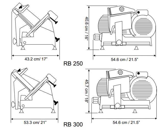 Rebanadora para Carnes Frías RB-250