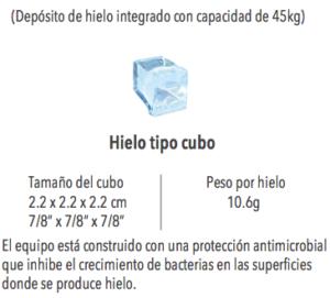 Fabrica de Hielo en Cubo Torrey MHC-280/625