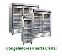 Congeladores Puerta Cristal