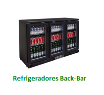 Refrigeradores Back Bar