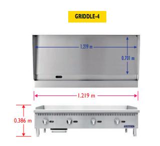 Sobrinox Griddle 4 Medidas 2
