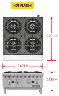 Sobrinox Hot Plate 4 Medidas