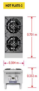 Sobrinox Hot Plate 2 Medidas